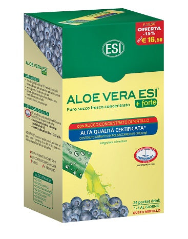 ALOE VERA 24POCKET DRINK MIRTILLO - azfarma