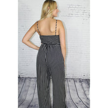 Cutout Striped Jumpsuit
