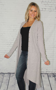 Sweater Knit High Low Cardigan