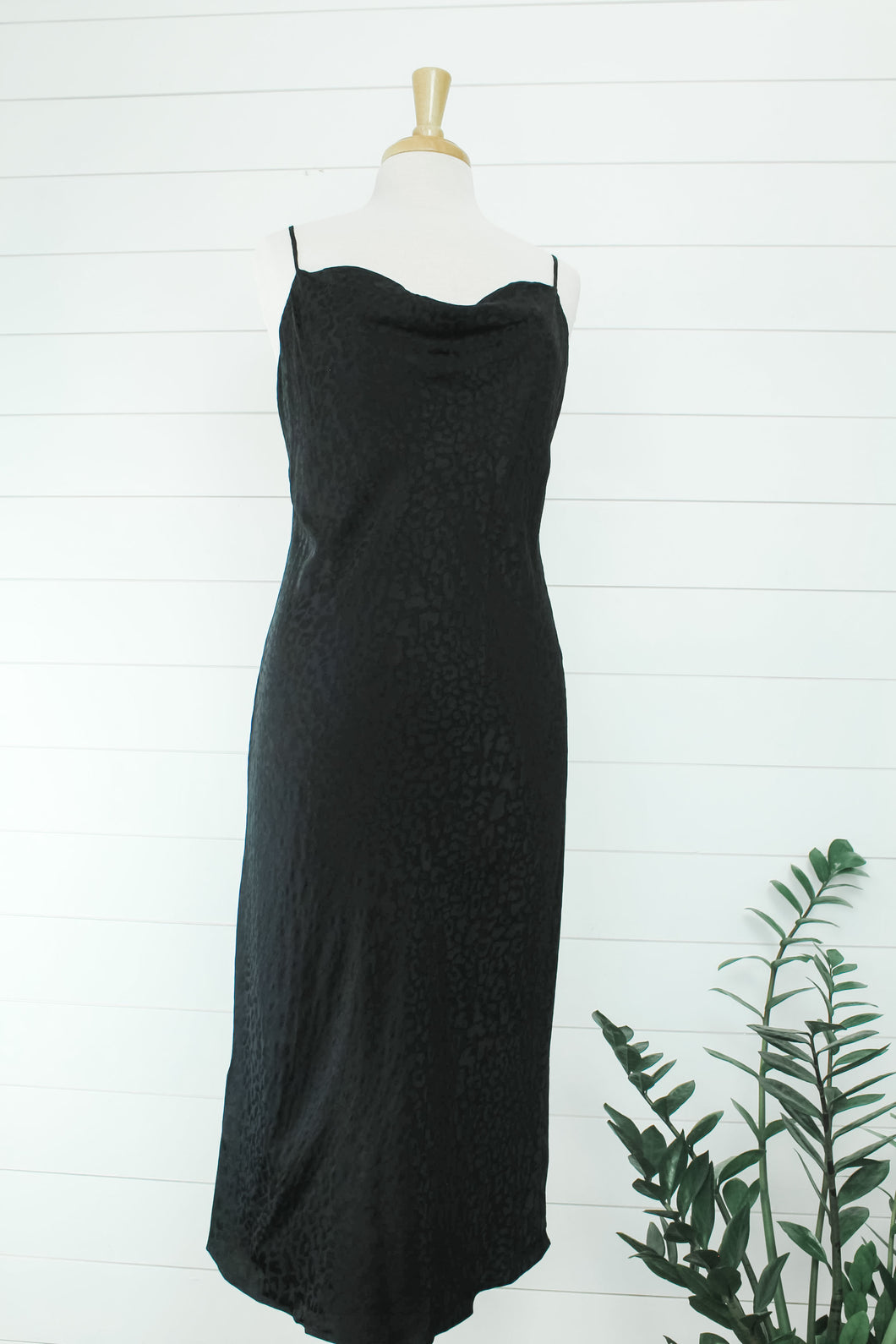 Jacquard Cowl Neck Dress