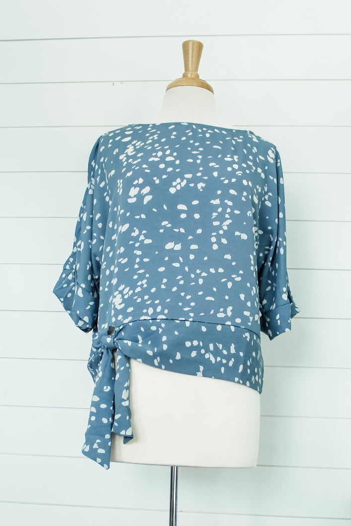 Printed Batwing Top