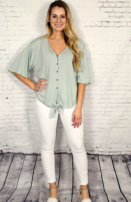 Bamboo Button Down Top
