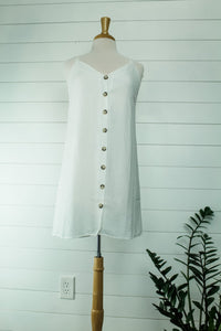 Double Strap Button Down Dress