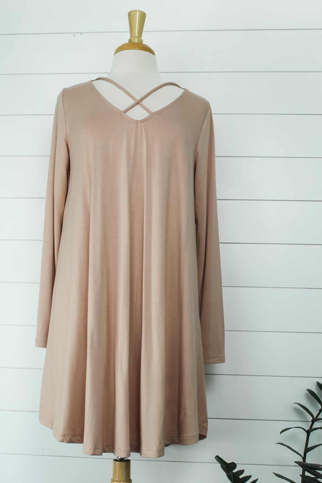 Front Cross Knit Dress