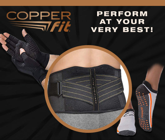 Perform at your best with copper fit apparel!