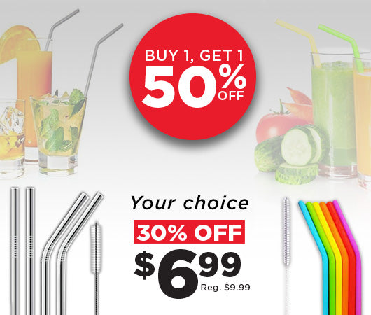 Reusable drinking straw sale!