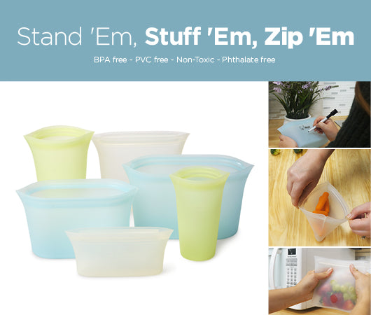 Zip'Em resuable silicone container bags