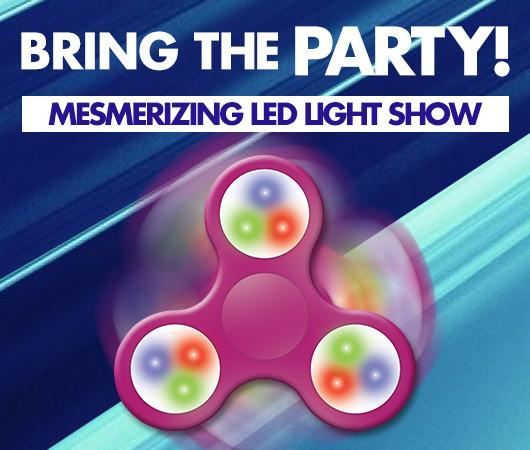Bring The Party with Jitter Spin LED