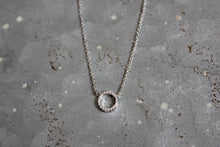 CZ Small Circle Necklace