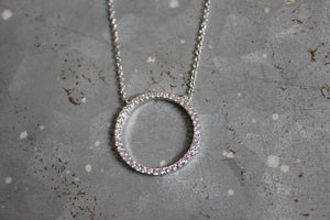 CZ Large Circle Necklace