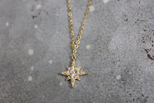 Tiny CZ Starburst Necklace
