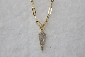 CZ Point Chain Necklace