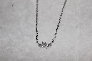 Mini Staggered Baguette Necklace