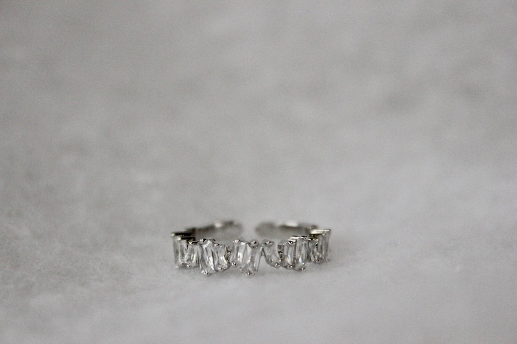 Staggered Baguette Ring