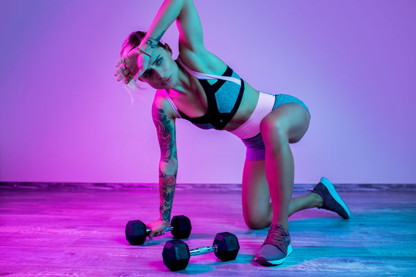 better workout, athlete colorful background