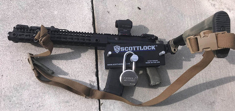 SCOTTLOCK™ Portable locking device for AR-15's