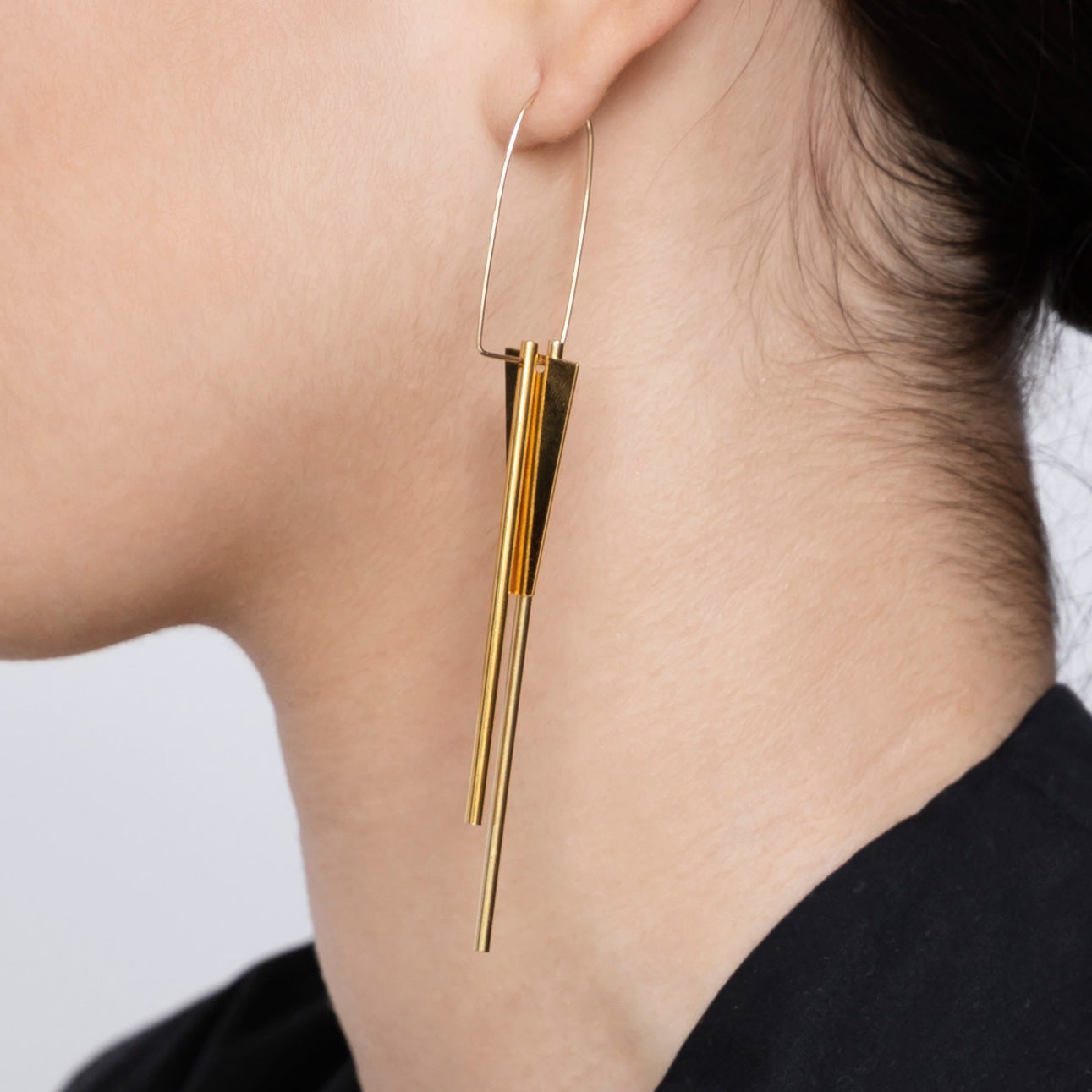 OUTLINE TRIPLE EARRINGS
