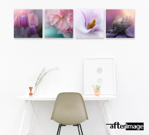 4 Square - Floral Printed Canvas set - afterimage.canvas