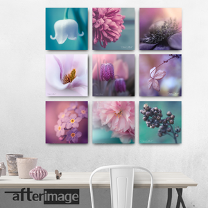 9 Square - Floral Printed Canvas set - afterimage.canvas