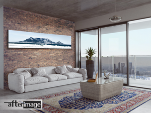 """Mooie berge"" - Panoramic Mountain Printed Canvas set - afterimage.canvas"