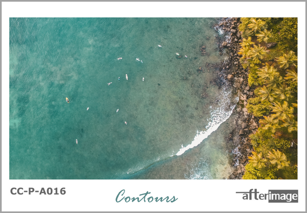 """Contours"" - Aerial Photography Printed Canvas set - afterimage.canvas"
