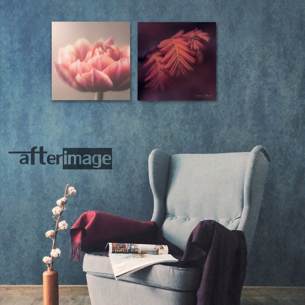 2 Square - Floral Printed Canvas set - afterimage.canvas