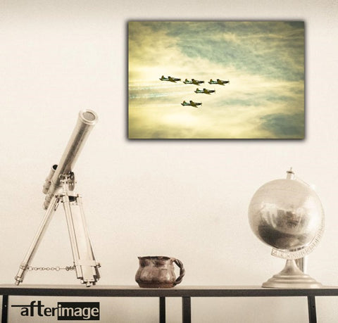 """Cloud Riders"" - Aviation Printed Canvas set - afterimage.canvas"