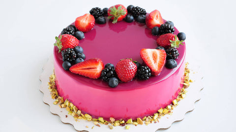Pink-color-Strawberry-Cake