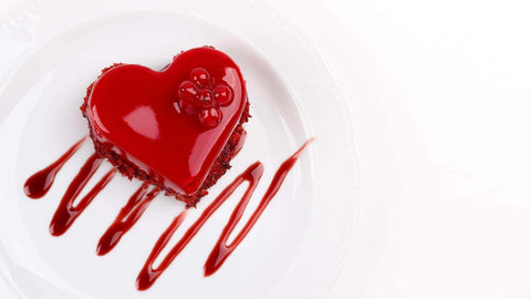 Slim-Red-colour-Valentine-Cake