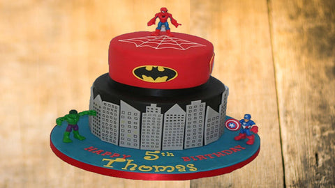 spiderman-design-fondant-cake