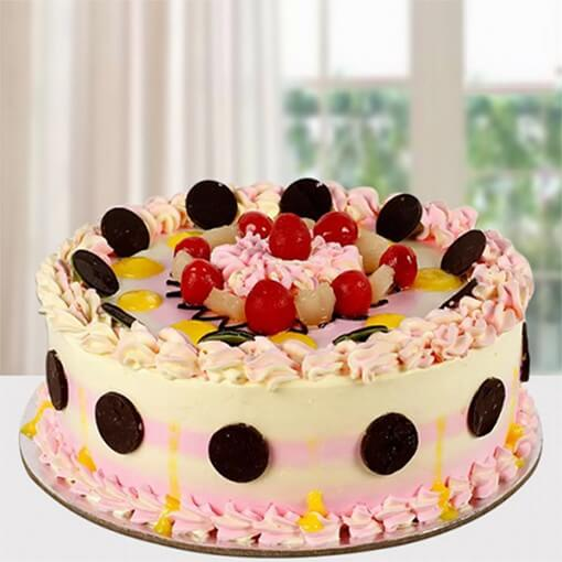round-shape-creamy-pink-cake-with-cherry-on-top