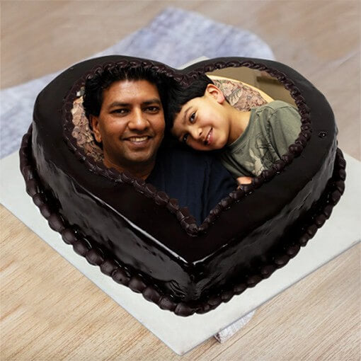 Delicious Chocolate Photo Cake For Dad