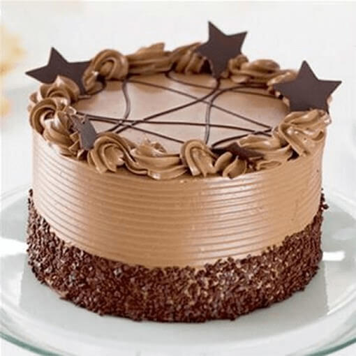 round-shape-chocolate-eggless-cake