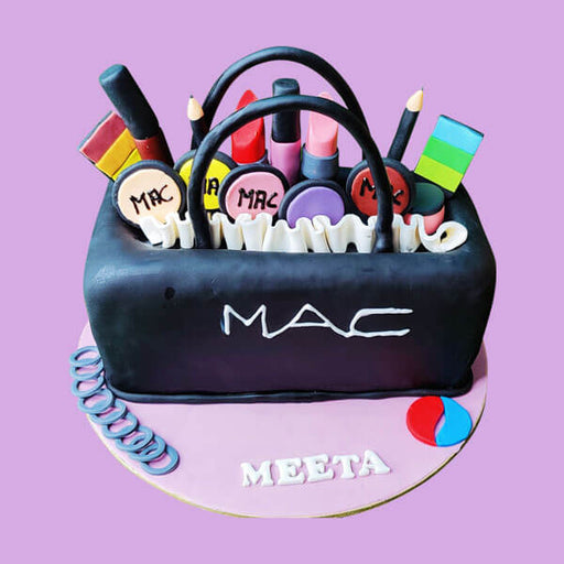 Mac Makeup Kit Design Cake
