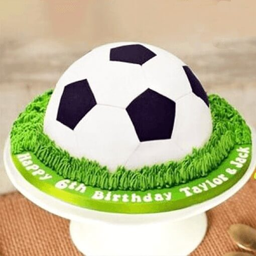 Mouth Watering Football Cake