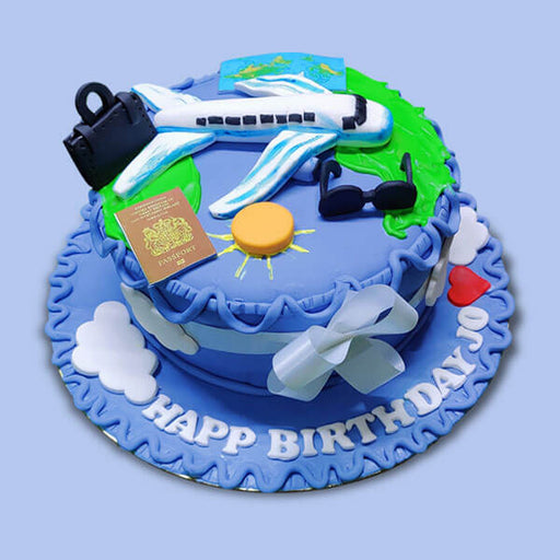 wanderlust-travel-design-cake-aeroplane-passport-on-top-of-cake