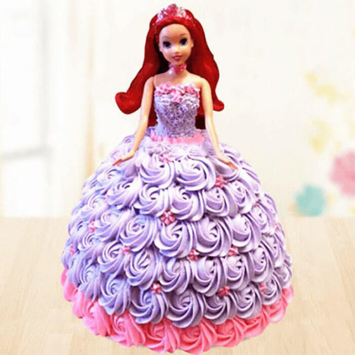 Barbie Doll Vanilla Cake