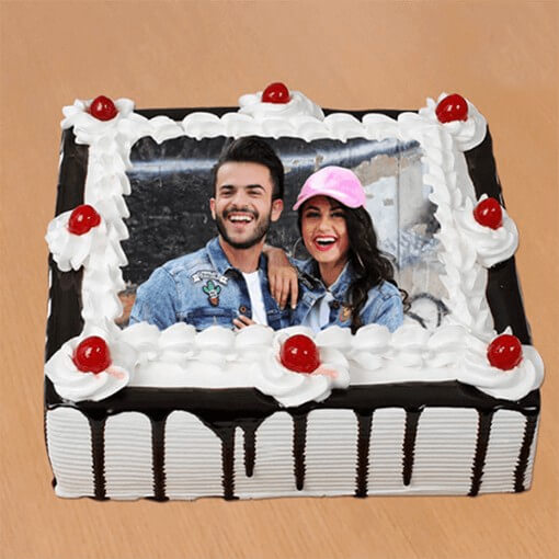 Sign of Love in Photo Cake