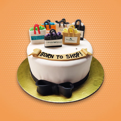 born-for-shopping-round-shape-designer-cake