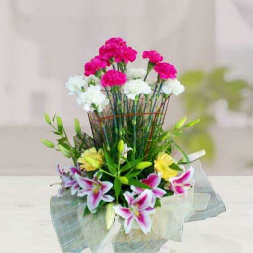 Carnation and Lilies Arrangement