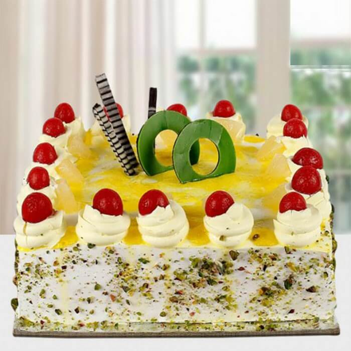 square-shape-cake-pineapple-cake-red-cherry-on-top
