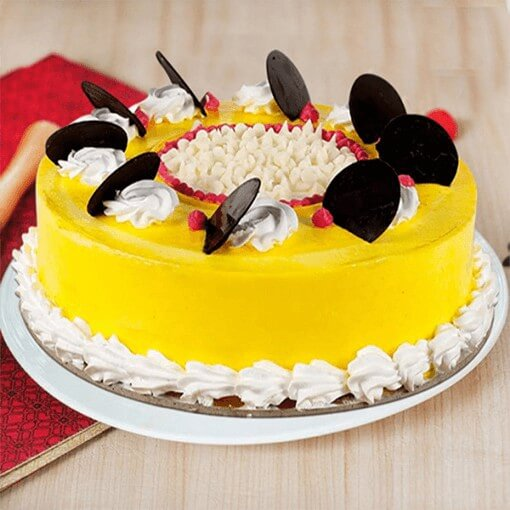 choco-coin-round-shape-cake-yellow-colour