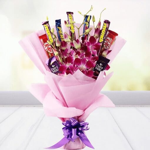 Chocolate and Orchid Bouquet