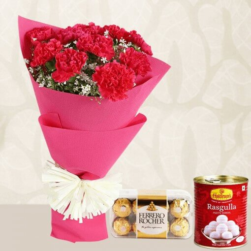 red-flowers-bouquet-ferrero-rocher-rasgulla