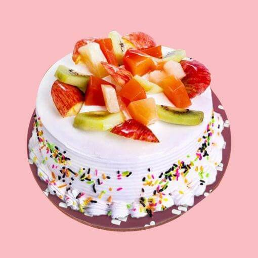round-shape-fresh-fruit-cake