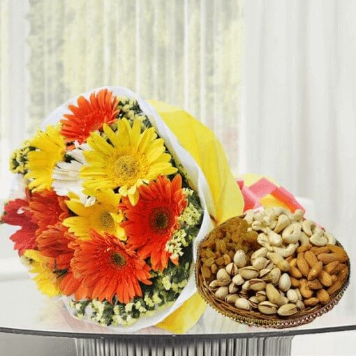 mix-gerbera-with-dry-fruits-cake-plaza