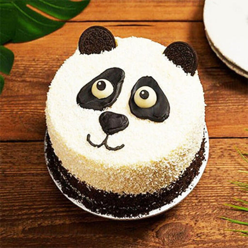 round-shape-panda-face-look-customized-cake