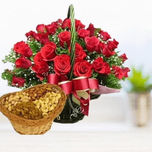 roses-basket-with-dry-fruits-cake-plaza