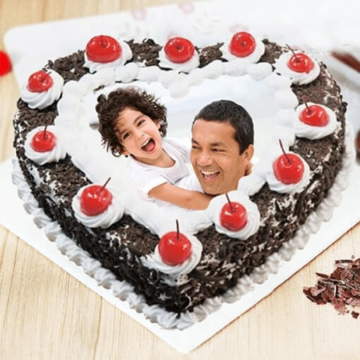 yummy-black-forest-photo-cake-for-dad