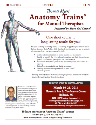 Harbor Health And Massage Anatomy Trains 2014